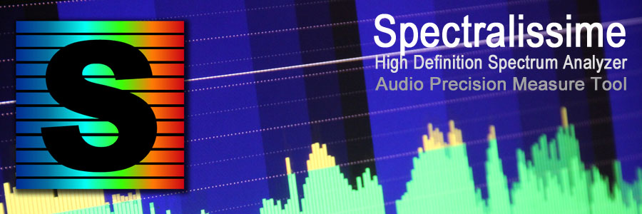 Spectralissime, spectrum analyzer, audio precision measure tool