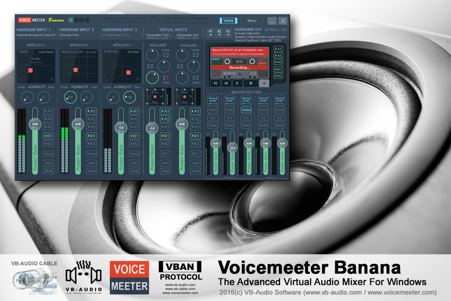 Voicemeeter Banana, The Advanced Virtual Audio Mixer For Windows
